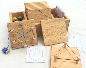 Wooden Geometry Cards  -- From Jennifer