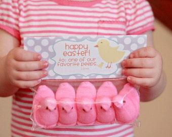 IMMEDIATE Download- Easter Treat Bag Tags: Peeps - Printable PDF