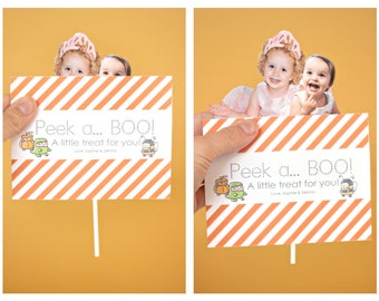 INSTANT Download-DIY 'Peek a BOO' Pop Up Halloween Card - Printable pdf