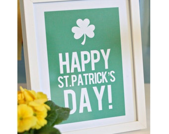 Immediate Download-Happy St. Patrick's Day Print - Printable PDF