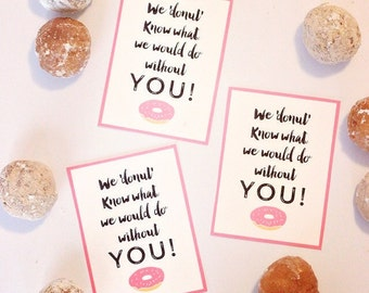 IMMEDIATE DOWNLOAD- Donut Thank you Gift Giving Labels-Printable PDF