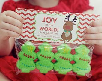 INSTANT Download-Christmas Treat Bag Tags: Reindeer - Printable PDF