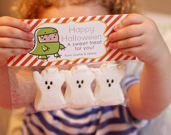 INSTANT Download-Happy Halloween Treat Bag Tags: Child Halloween - Printable PDF