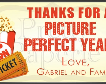 IMMEDIATE DOWNLOAD-Teacher Gift Giving - Picture Perfect Year Gift Tags: Printable PDF