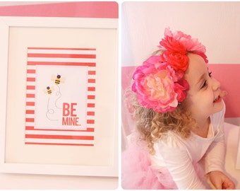 Instant Download-Valentine's Day Print: BE MINE-Printable PDF