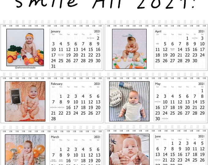 Featured listing image: Funny Chubby Baby Desk Calendar-Smile through 2021 with Chase!