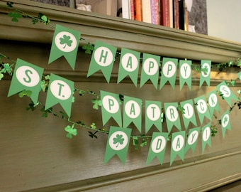 INSTANT Download-Happy St. Patrick's Day BANNER - Printable PDF
