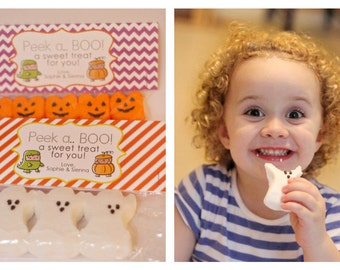 INSTANT Download-Trick or Treaters Treat Bag Tags: Child Halloween - Printable PDF