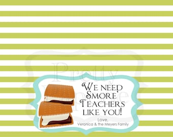 INSTANT Download-Teacher Gift: S'more Teachers Like You Treat Bag Tags - Printable PDF