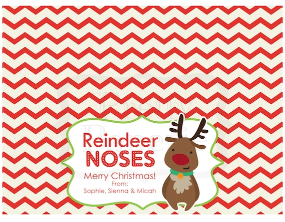 Instant Download Christmas Treat Bag Tags Reindeer Noses Etsy Rh Com Free Printable Toppers