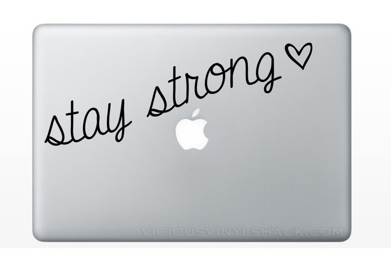 ed7b4f2f4dfb0 Stay Strong Quote Vinyl Decal Stickers Multiple Colors | Etsy