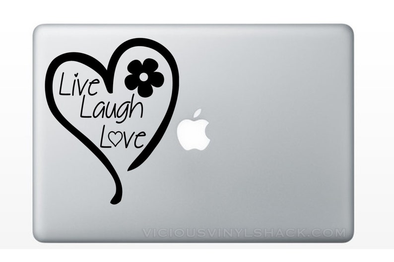 79827ef16c86c Live Laugh Love Heart Quote Vinyl Decal Stickers Multiple | Etsy