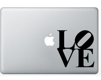 LOVE Park Stacked Word Vinyl Decal Stickers (Multiple Colors Available) Philadelphia Philly