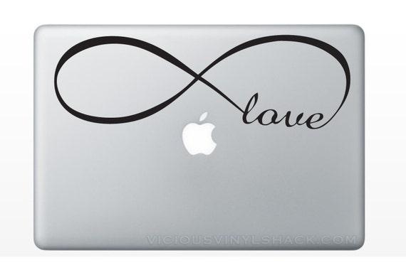 Infinity Symbol Love Word Vinyl Decal Stickers Multiple Etsy