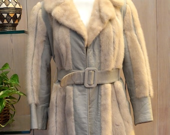 Free Shipping! Petra's Light Mink and Leather Coat