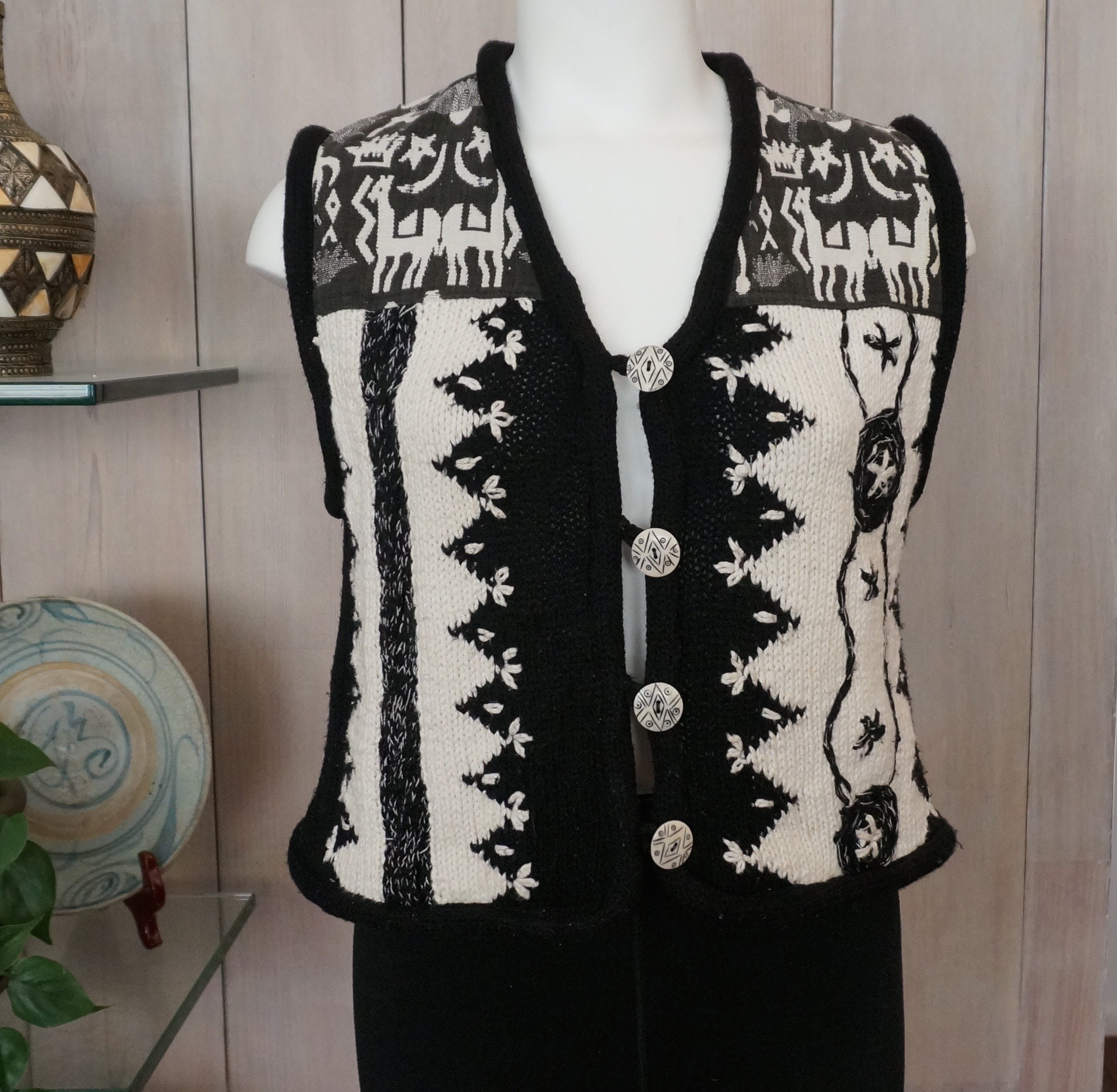 Free Shipping! Vtg SANDY STARKMAN Black and White