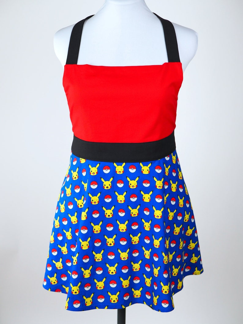 Gotta Catch em All Ladies Apron Pikachu Kitschy Apron image 0