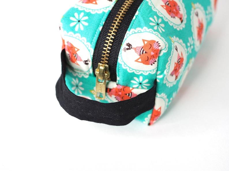 Pink Kawaii Bears Print Metal Zipper Pouch 8x5 Japanese Fabric Bag Makeup Bag Pencil Bag Stocking Stuffer Art Supply Bag Gift for her