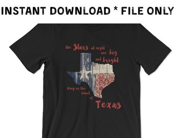Deep in the Heart of Texas Digital File transfer sublimation DTG t-shirt shirt graphic print design vinyl supply HTV printed truck