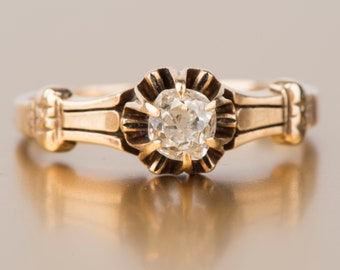 Victorian Insp 3.60ctw Rose//Antique Cut Diamond Victorian Spcl RING