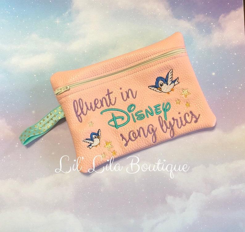 Blue bird zipper pouch