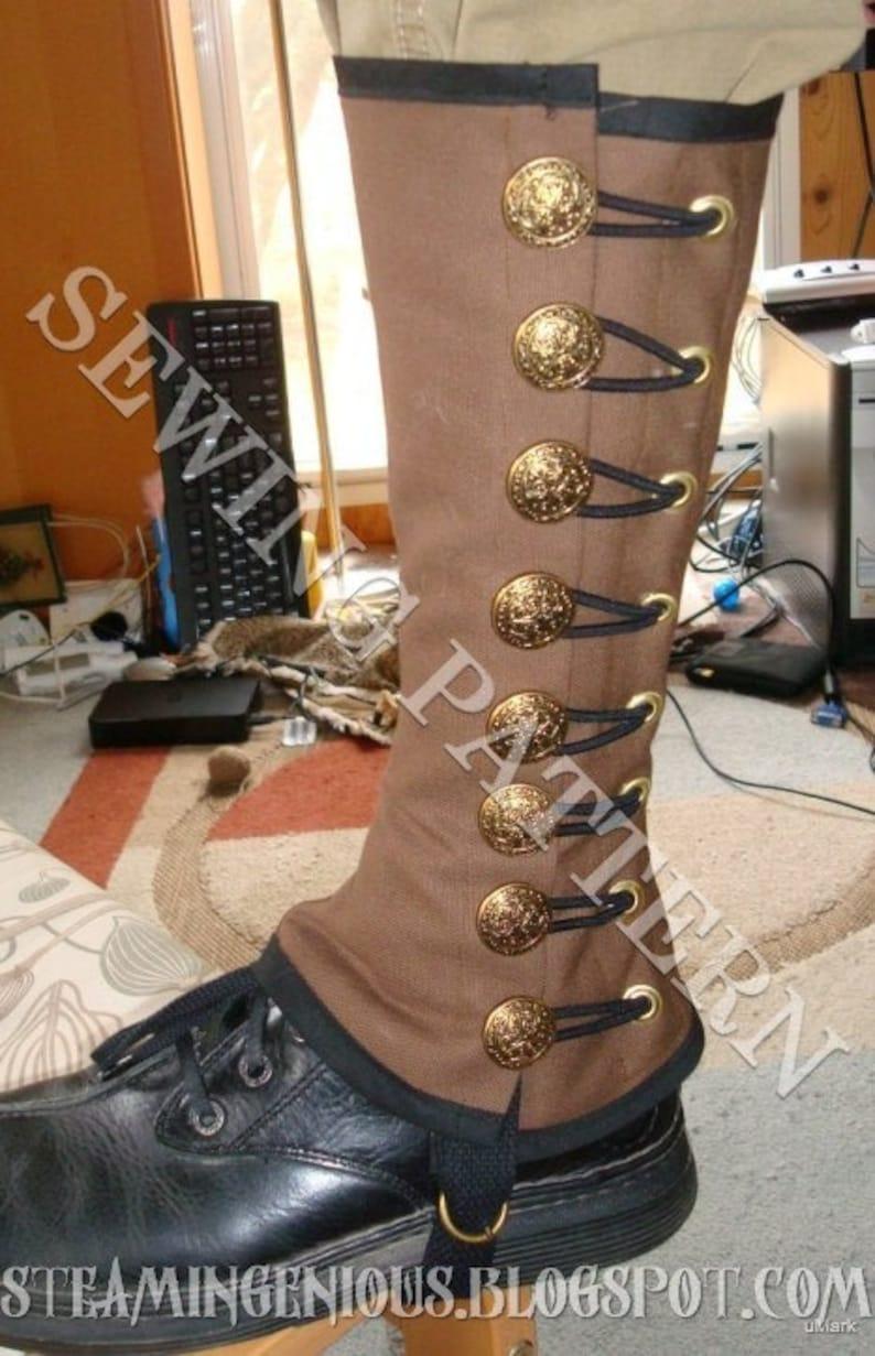 Steampunk Military Spats Sewing Pattern image 0