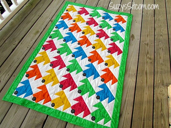 Quilt Pattern Sleepy Puppies Twin Size Quilt Colorful Easy Etsy