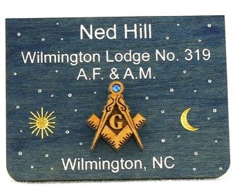 Masonic Past Master Name Tag Badge Wood | Etsy