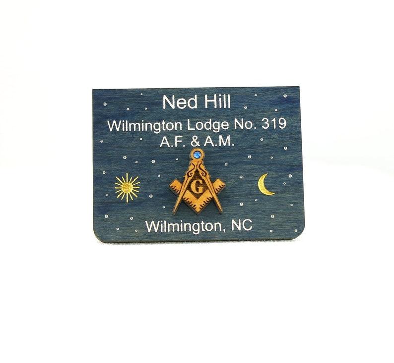 Masonic Name Tag Badge Starry Heavens Above | Etsy