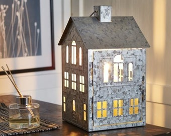 galvanized metal house lantern - 450×450