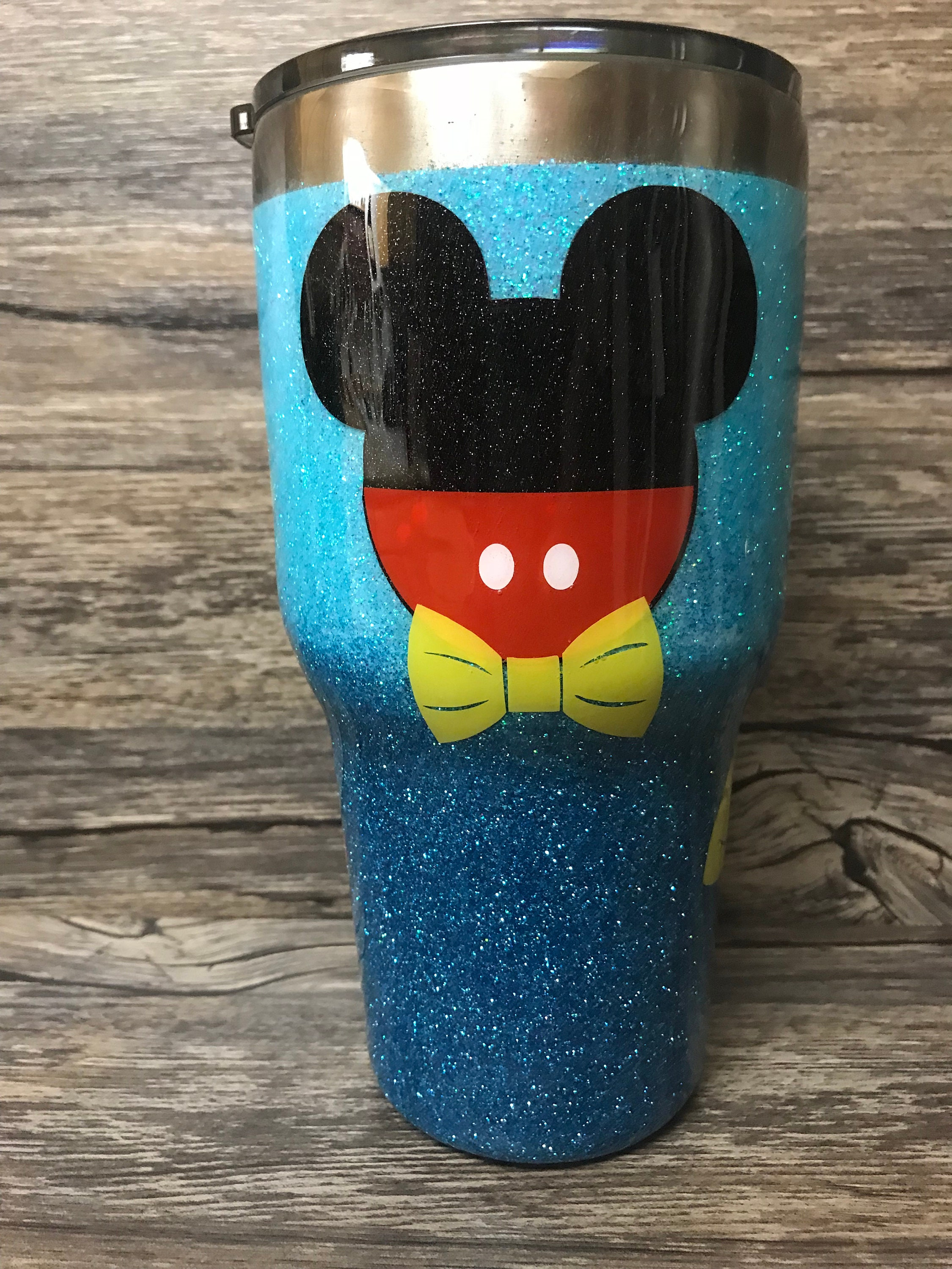 Personal Disney Inspired Glitter Tumbler Minnie Mouse Cup