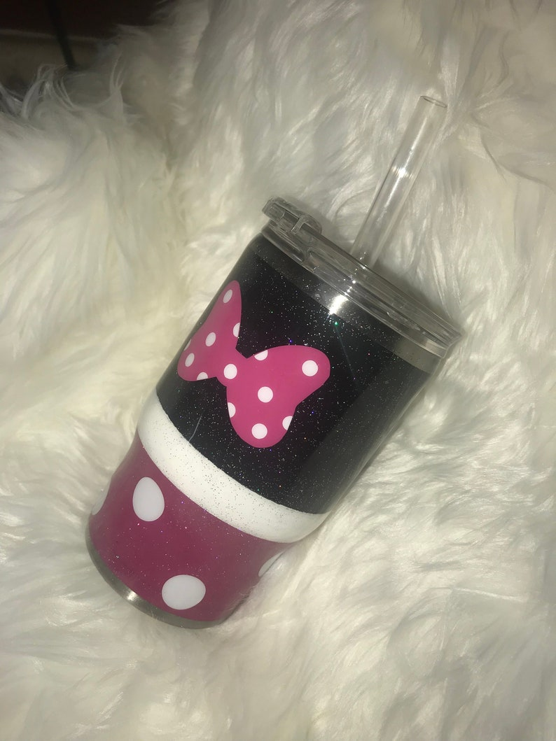 6bf5c0ed5a6 Personalized Inspired Minnie Mouse Glitter Tumbler Disney   Etsy