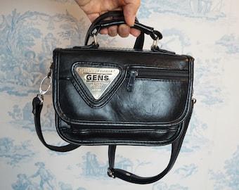 1dbefefacbf143 90s schoolbag, piccolo spessore nero borsa caso/originale 90s Rave  Shoulderbag GENS