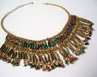 Egyptian Revival Necklace   Antique art deco necklace