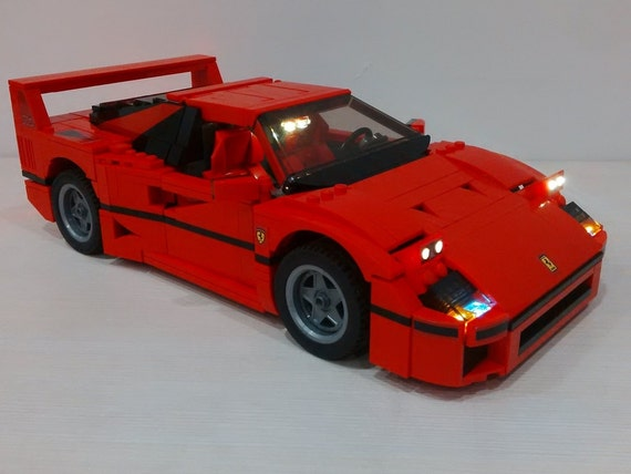 Light Up Set Of Ferrari F40 For Lego Creator 10248 Car Not Included