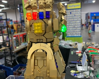 Light up kits for LEGO 76191 - Infinity Gauntlet - (Model not included)