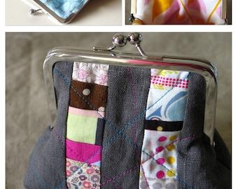 Coin Strip Frame Purse Sewing Pattern PDF