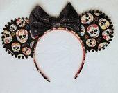 Mouse Ears Headband Coco Dias de los Muertos Mouse Ears Headband Minnie Ears Sugar Skull Minnie Ears Mouse Ear Headband