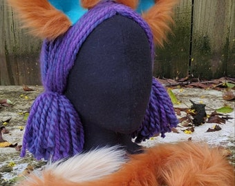 Audie the wolf inspired Kitty Ears Clip on / Barrettes / Animal Crossing / with or without Kitty Cat tail / costume / cosplay