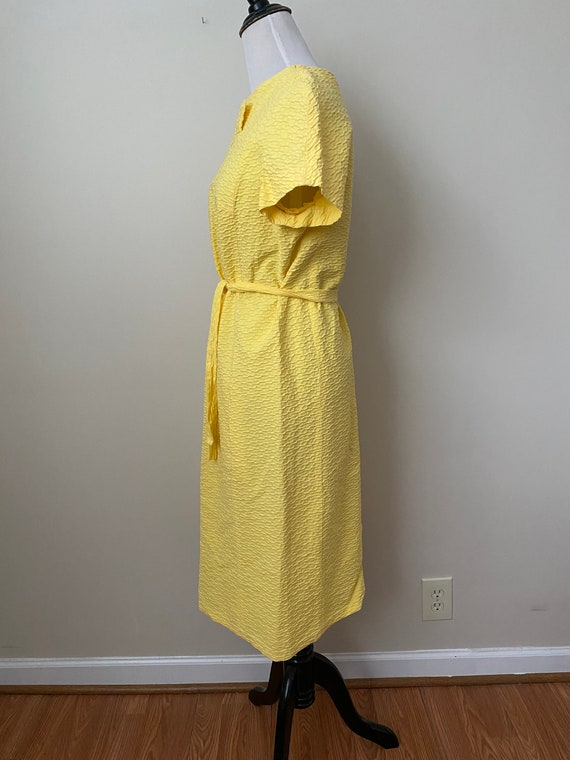 Bright Yellow Vintage Dauphine Polyester Dress - image 4