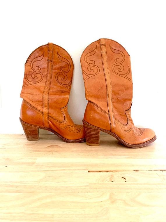 1980s Dingo Women's Cowboy Boots size 6.5 Leather