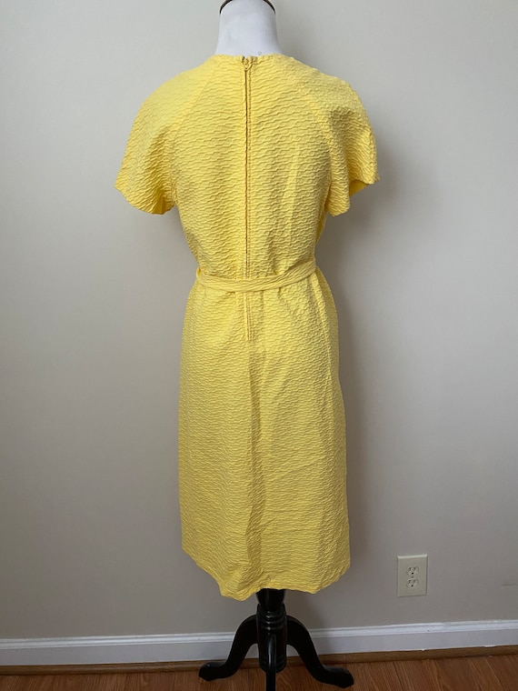 Bright Yellow Vintage Dauphine Polyester Dress - image 2