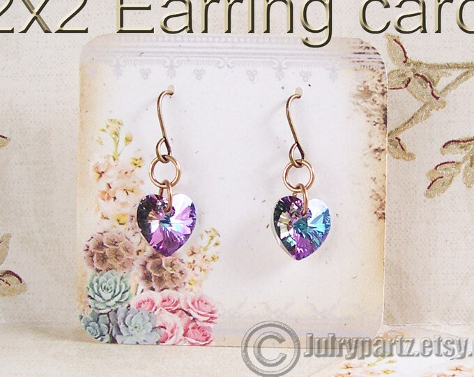 60•COTTAGE CHIC•Necklace and Earring Cards•Jewelry Cards•Necklace Card•Display•Earring Holder•Necklace Holder