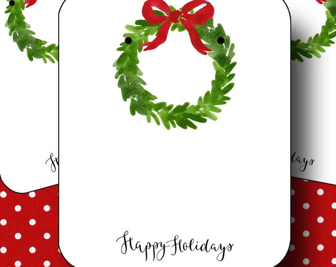 HOLIDAY•Earring Cards•2x3 Earring Cards•Jewelry Cards•Holiday Tags•Christmas Earring Cards•Holiday Labels•Christmas Tags•Wreath 1