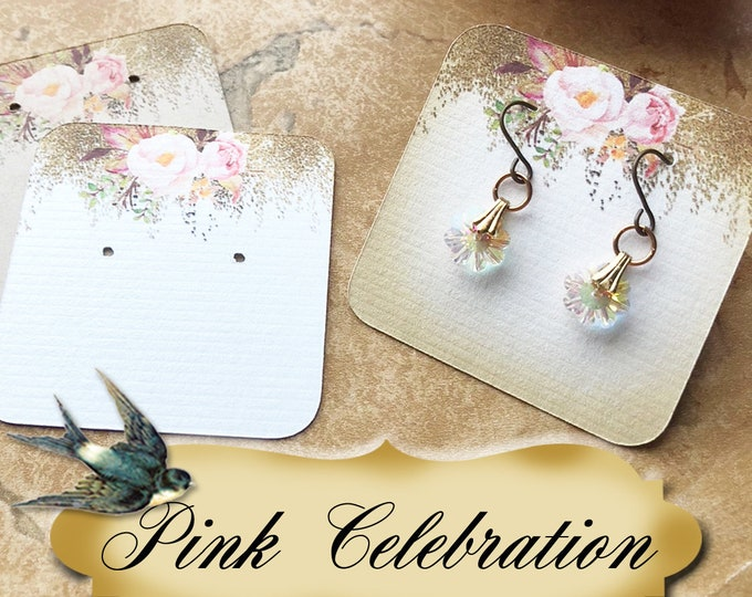 60•PINK CELEBRATION•Necklace Card•Earring Cards•Jewelry Cards•Display Card•Display•Earring Holder•Necklace Holder•2x2 or 3x3