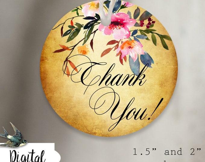 DIY•POSIE 6•Thank You Tags•Printable Tags•Digital Tags•Favor Tag