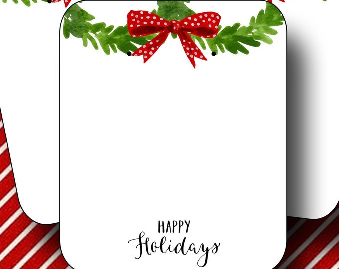 HOLIDAY•Earring Cards•2x3 Earring Cards•Jewelry Cards•Holiday Tags•Christmas Earring Cards•Holiday Labels•Christmas Tags•Wreath 3