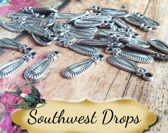 SOUTHWEST DROPS•Earring Parts•Necklace Parts•Jewelry Components•Jewelry Charms•Sold sets of 10