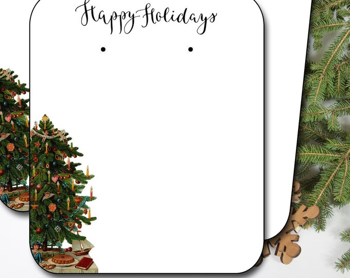HOLIDAY•Earring Cards•2x3 Earring Cards•Jewelry Cards•Holiday Tags•Christmas Earring Cards•Holiday Labels•Christmas Tags•Tree 1