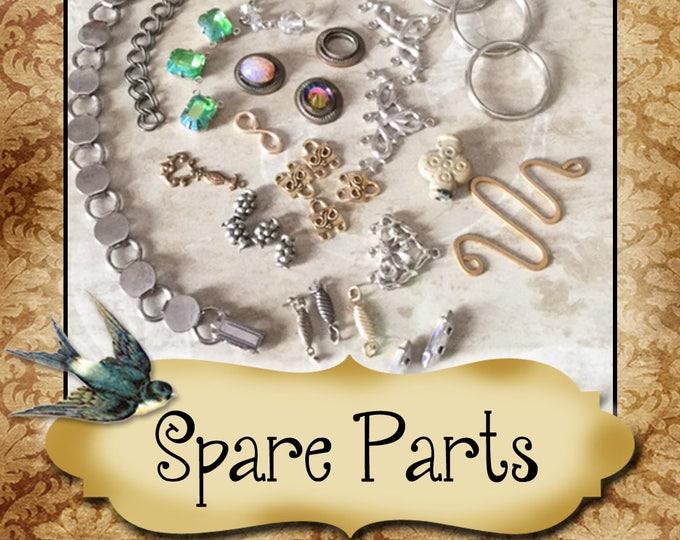 SPARE PARTS•Earring Parts•Necklace Parts•Vintage Components•Set 12